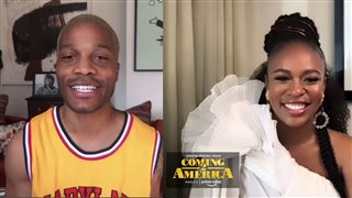 Jermaine Fowler and Nomzamo Mbatha on starring with Eddie Murphy in 'Coming 2 America' - Interview